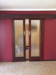 2 x solid jarrah sliding doors Australind Harvey Area Preview