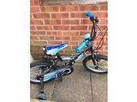 Blue Bike with Stabilisers