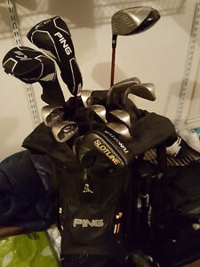 Ping full set (G20 irons, G2 driver, wood) with bag, putter