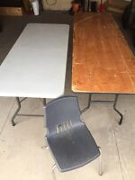 6' (Plastic), 8' (Wood) Folding Tables & Chairs
