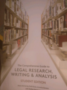 Legal research, writing, & analysis student edition