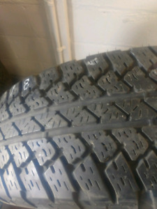 Four matching 2557018 bridgestone dueler