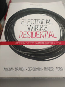 Electrical Wiring Residential textbook with drawings