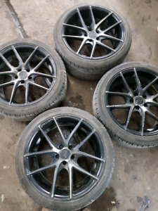 """Used set of 19"""" Niche Targa Rims with Tires"""