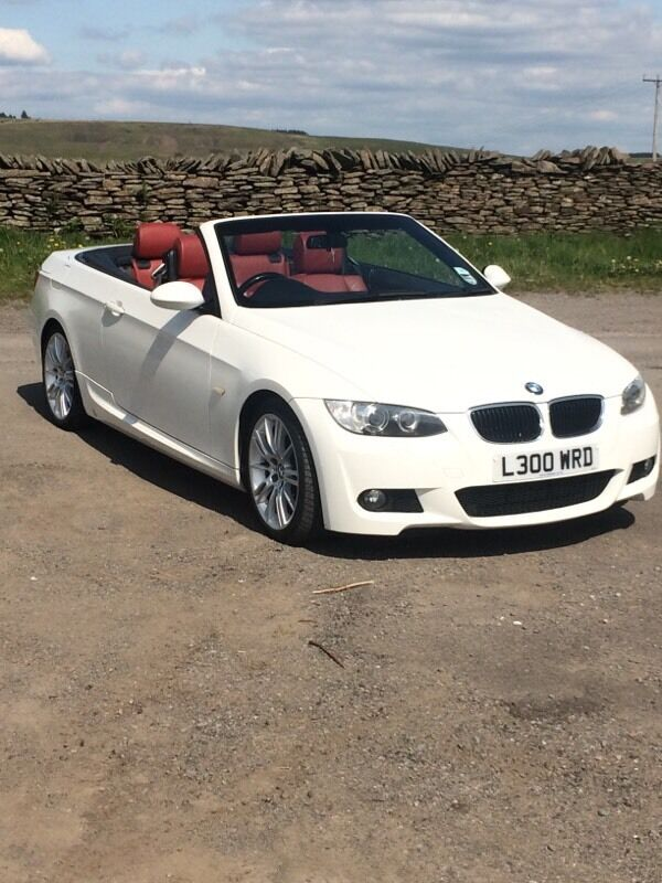 bmw 3 series 320d m sport white red leather convertible 60k fsh in. Cars Review. Best American Auto & Cars Review