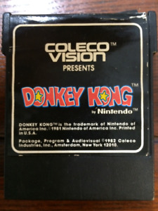 Vintage Donkey Kong Coleco Vision Game Cartridge