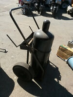 Huge Acetylene Owned Tank Full with cart