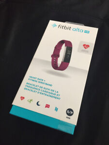 Fitbit Alta HR (Sealed, brand new ) - Small size, purble band