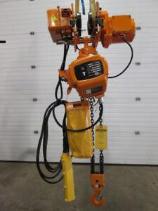 RW 2 Ton Electric Chain Hoist with Power Trolley