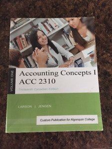 Textbook for Algonquin College Accounting ACC2310