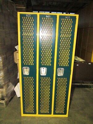 Superior Heavy Duty Metal School Gym Locker Single Tier 3 Wide 36w X 12d X 75h
