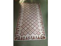 Rectangular hand made rug