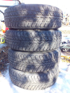 SET of FOUR - P195/65R15 Winters on Rims $300