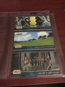1999 Star Wars Topps Episode I Widevision Card Insert X31-33-39