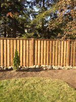 Residential Exterior Design:  Fence, Interlock, Landscape