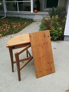 Ikea Half Round Drop Leaf table and Wall Cabinet - PRICE DROPPED Cambridge Kitchener Area image 1