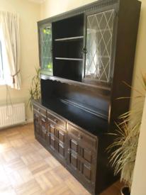 Solid Oak Vintage Welsh Dresser / Sideboard / Cabinet