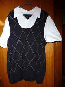 BLOUSE 3 xl WITH ATTACHED SWEATER VEST North Shore Greater Vancouver Area image 1