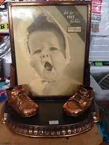 BRONZED BABY SHOES PICTURE FRAME - PARKER PICKERS -