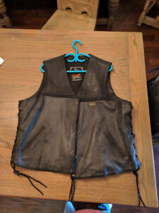 Real Leather Chaps, Pants and Vests Lot- Large to XXL/Size 36