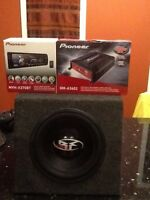 Brand new pioneer amp and stereo deck with older sub