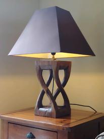 Pair of Wood base Lamps