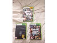 Xbox 360 games (GTA5, GTALC, SKYRIM)