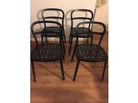 Ikea Aluminium 4 Chairs