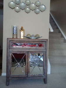 $210 Accent cabinet hand-crafted distressed design..we paid $460