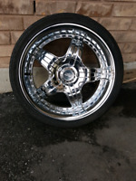 Effen 20inch rims 5x114.3 with 2 good tires