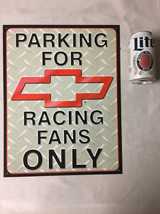 Chevy Parking Only Sign Metal Man-Cave