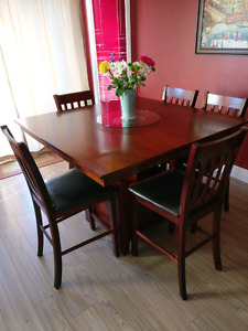 Almost New Pub Style Dining Table & 8 Chairs