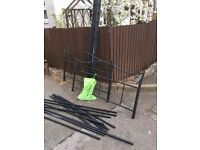 BLACK METAL DOUBLE BED FRAME ** FREE DELIVERY MONDAY NIGHT **