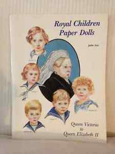 Queen Elizabeth II ~ Royal Children PaperDolls circa 1989 London Ontario image 1