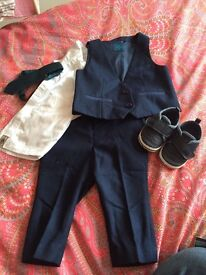 Baby boys navy blue suit