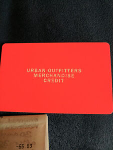 URBAN OUTFITTERS Merchandise Credit gift card