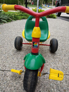 Kettler Kettrike Junior Tricycle With Pushbar - Green Seat