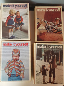 Lot of 20 Make It Yourself 1970s vintage craft books