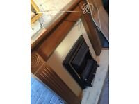 Fire place with built in fire