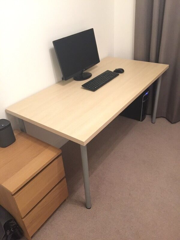 Ikea Linnmon Adils Birch Desk Rrp 163 34 In Newbury
