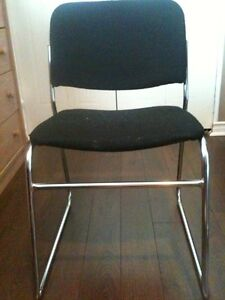 2 Black Soft Cushioned Chairs With Chrome Frame London Ontario image 2