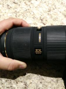 Sigma 50 - 150 telephoto lens f2.8 for Canon