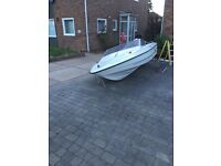 Fletcher speedboat 15 ft with 70 Hp outboard and trailer