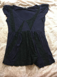 Urban Outfitters blue and black lace shirt!