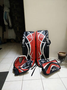 Reebok Revoke 9000 Goalie Pads + Glove + Blocker
