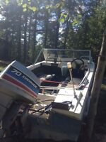 16 ft bow rider with trailer end of season deal