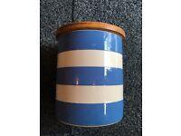 Cornish Blue storage pot