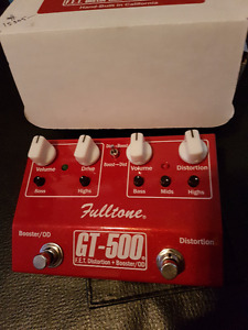 Fulltone GT-500 dual boost and overdrive pedal