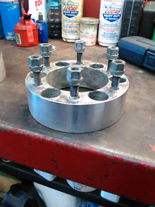2 inch wheel spacers chev/gmc/toyota 6bolt