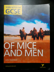 York Notes for GCSE Of Mice And Men John Steinbeck Book Paperback